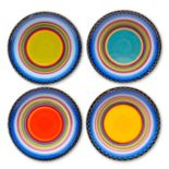 Certified International Tequila Sunrise 4-pc. Dinner Plate Set