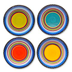 Certified International Tequila Sunrise 4 pc Dinner Plate Set