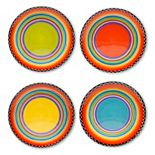 Certified International Tequila Sunrise 4-pc. Salad Plate Set