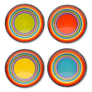 Certified International Tequila Sunrise 4-pc. Salad Plate Set