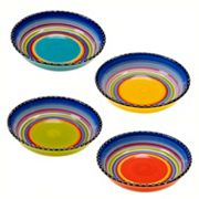 Certified International Tequila Sunrise 4 pc Soup Bowl Set