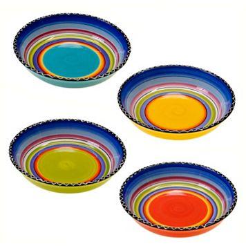 Certified International Tequila Sunrise 4-pc. Soup Bowl Set