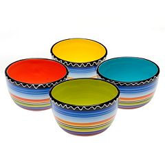 Certified International Tequila Sunrise 4 pc Ice Cream Bowl Set