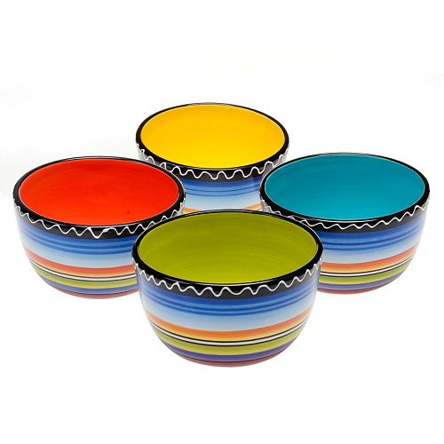 Certified International Tequila Sunrise 4-pc. Ice Cream Bowl Set