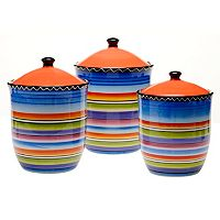 Certified International Tequila Sunrise 3 pc Kitchen Canister Set
