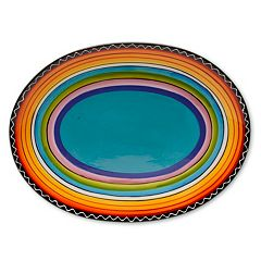 Certified International Tequila Sunrise 16' x 12' Oval Serving Platter
