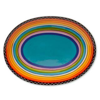 "Certified International Tequila Sunrise 16"" x 12"" Oval Serving Platter"