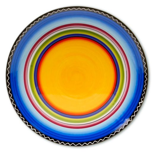 Certified International Tequila Sunrise 14.5-in. Round Serving Platter