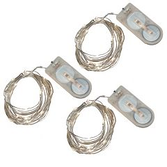 LumaBase 3-pk. Waterproof Battery Operated Mini LED String Lights