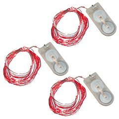 LumaBase 3 pkWaterproof Battery Operated Mini LED String Lights