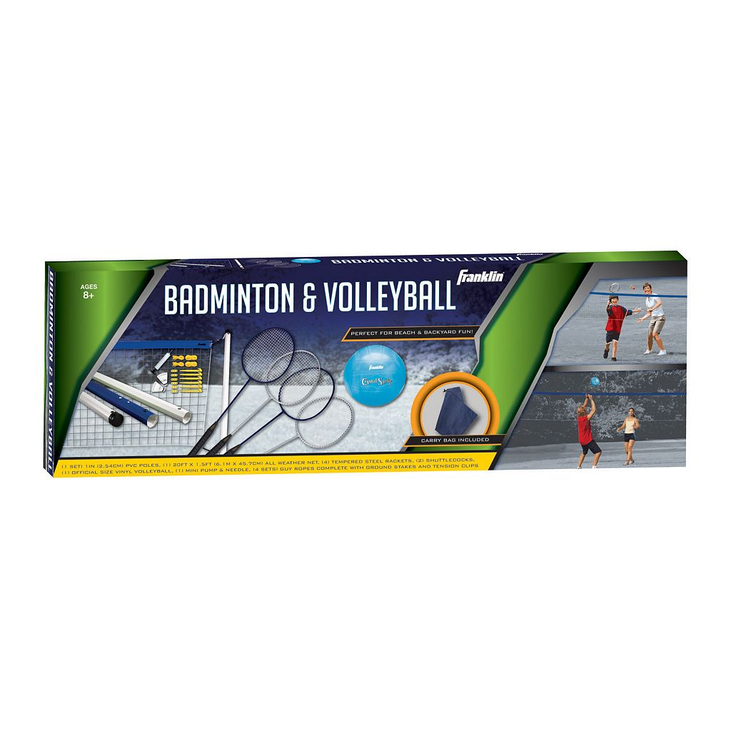 Franklin Recreational Badminton and Volleyball Set