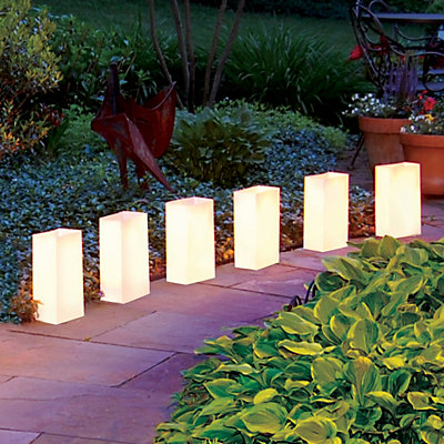 LumaBase 12-pk. Plastic Luminaria Bags - Indoor and Outdoor