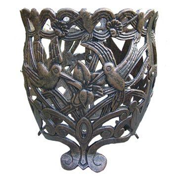 Hummingbird Decorative Round Flower Pot