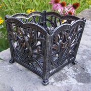 Hummingbird Decorative Square Flower Pot