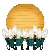 LumaBase 10-pk. Paper Lantern & String Lights Set