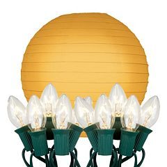 LumaBase 10-pk. Paper Lantern & String Lights Set
