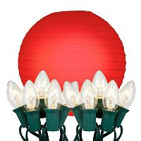 LumaBase 10 pkPaper Lantern & String Lights Set