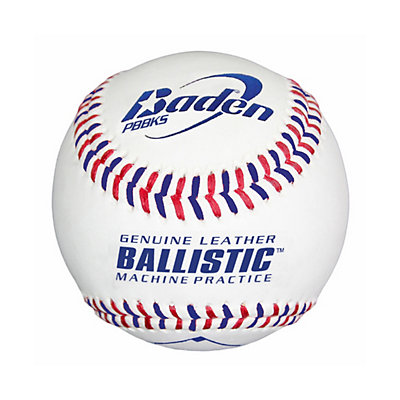 Baden PBBKS Leather Ballistic Pitching Machine Baseball