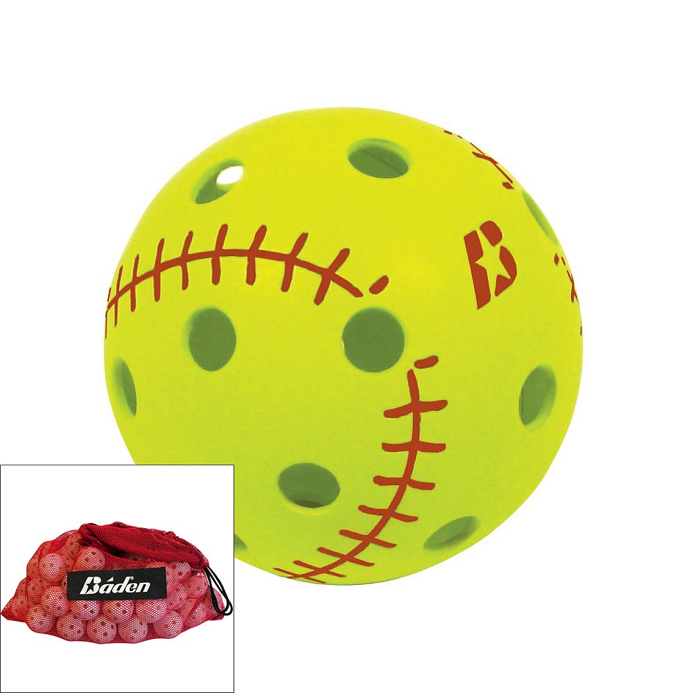 Baden BL12 Big Leaguer Whiffle Ball & Bag Set