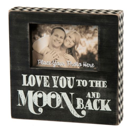 Love You To The Moon And Back 4 X 6 Wooden Box Frame