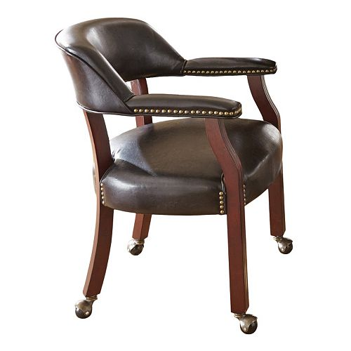 tournament rolling captain 39 s dining chair