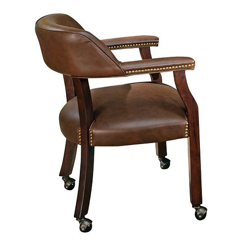 Tournament Rolling Captain's Dining Chair