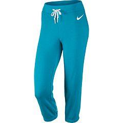 Women's Nike Club Swoosh French Terry Capris