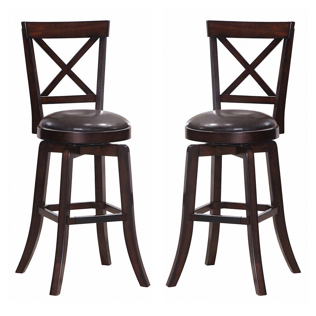 Gimlet 2-piece X-Back Swivel Bar Chair