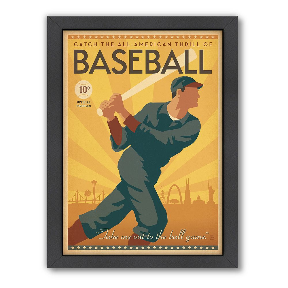 Americanflat Anderson Design Group ''Baseball'' Framed Wall Art