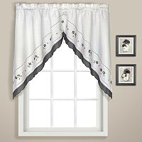 United Curtain Co. Gingham Swag Curtains - 60'' x 38''