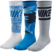 Nike 3-Pack Graphite Camo Crew Socks - Boys