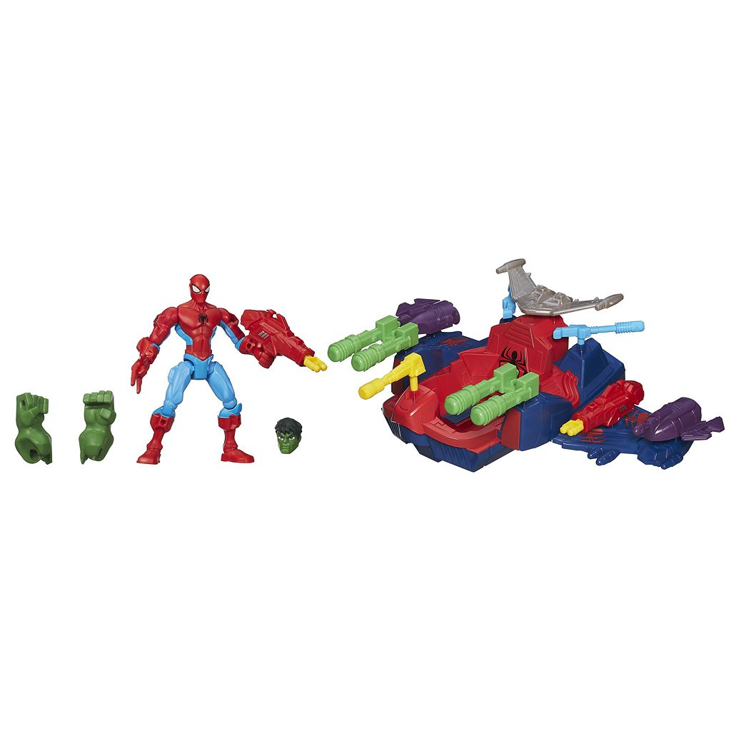 Marvel Super Hero Mashers Spider-Man Skycrawler Vehicle by Hasbro
