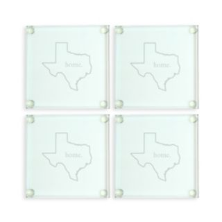 Cathy's Concepts Home State 4-pc. Glass Coaster Set