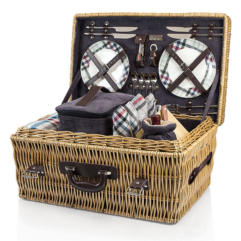 Picnic Time Carnaby Street Willow Picnic Basket