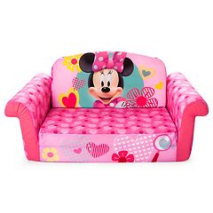 Disney Mickey Mouse & Friends Minnie Mouse Marshmallow 2-in-1 Flip Open Kids Sofa by Spin Master by