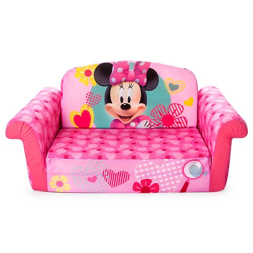 Disney Mickey Mouse Friends Minnie Marshmallow 2 In 1 Flip Open Kids Sofa By Spin Master