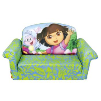 Dora the Explorer Marshmallow 2-in-1 Flip Open Kids Sofa by Spin Master