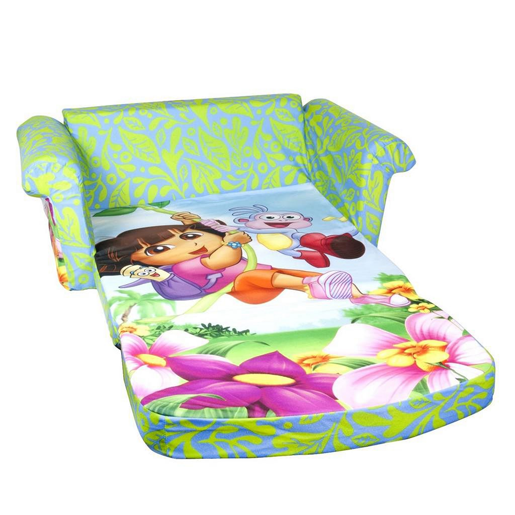 Dora the Explorer Marshmallow 2-in-1 Flip Open Kids Sofa by Spin Master