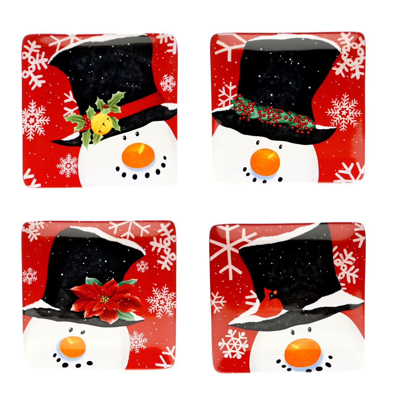 Certified International Top Hat Snowman 4-pc. Dessert Plate Set  sc 1 st  Kohlu0027s & Christmas Dinnerware u0026 Serveware Kitchen u0026 Dining | Kohlu0027s
