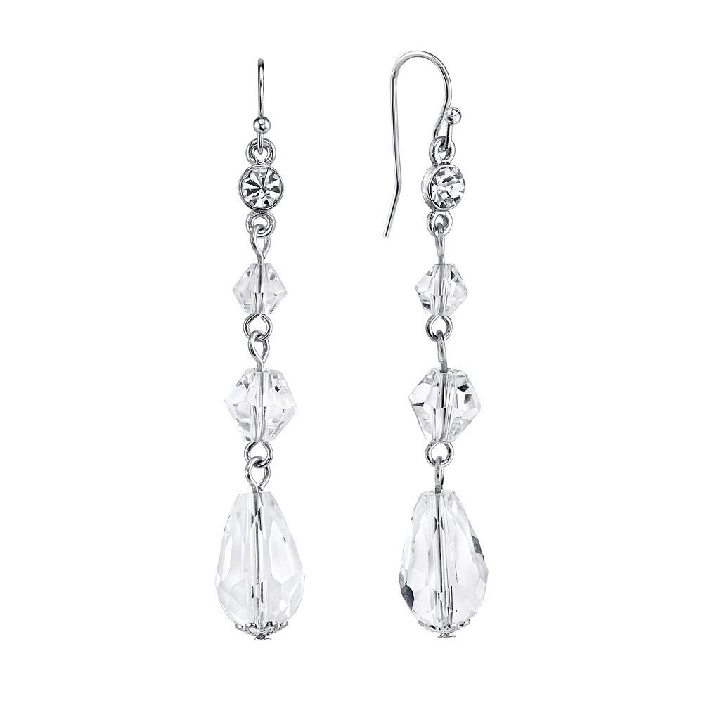 1928 Bead Linear Drop Earrings