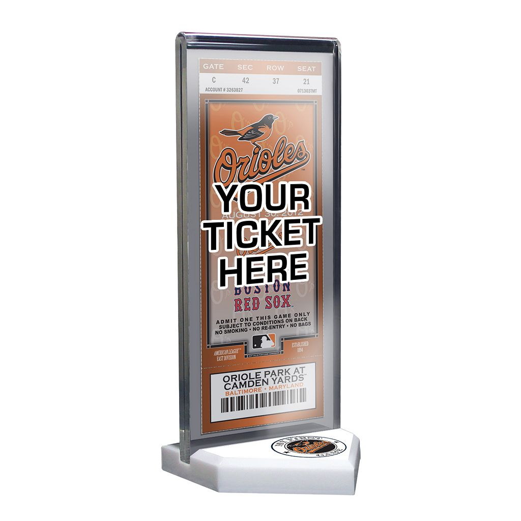 Baltimore Orioles Home Plate Ticket Display Stand