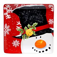 Certified International Top Hat Snowman 12.25-in. Square Serving Platter
