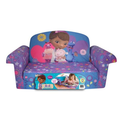 Disney Doc Mcstuffins Marshmallow 2 In 1 Flip Open Kids Sofa By Spin