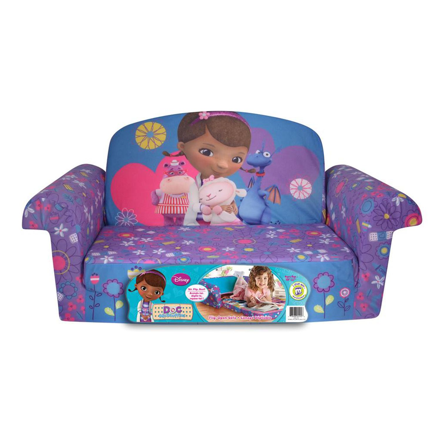 Disney Doc McStuffins Marshmallow 2 In 1 Flip Open Kids Sofa By Spin Master