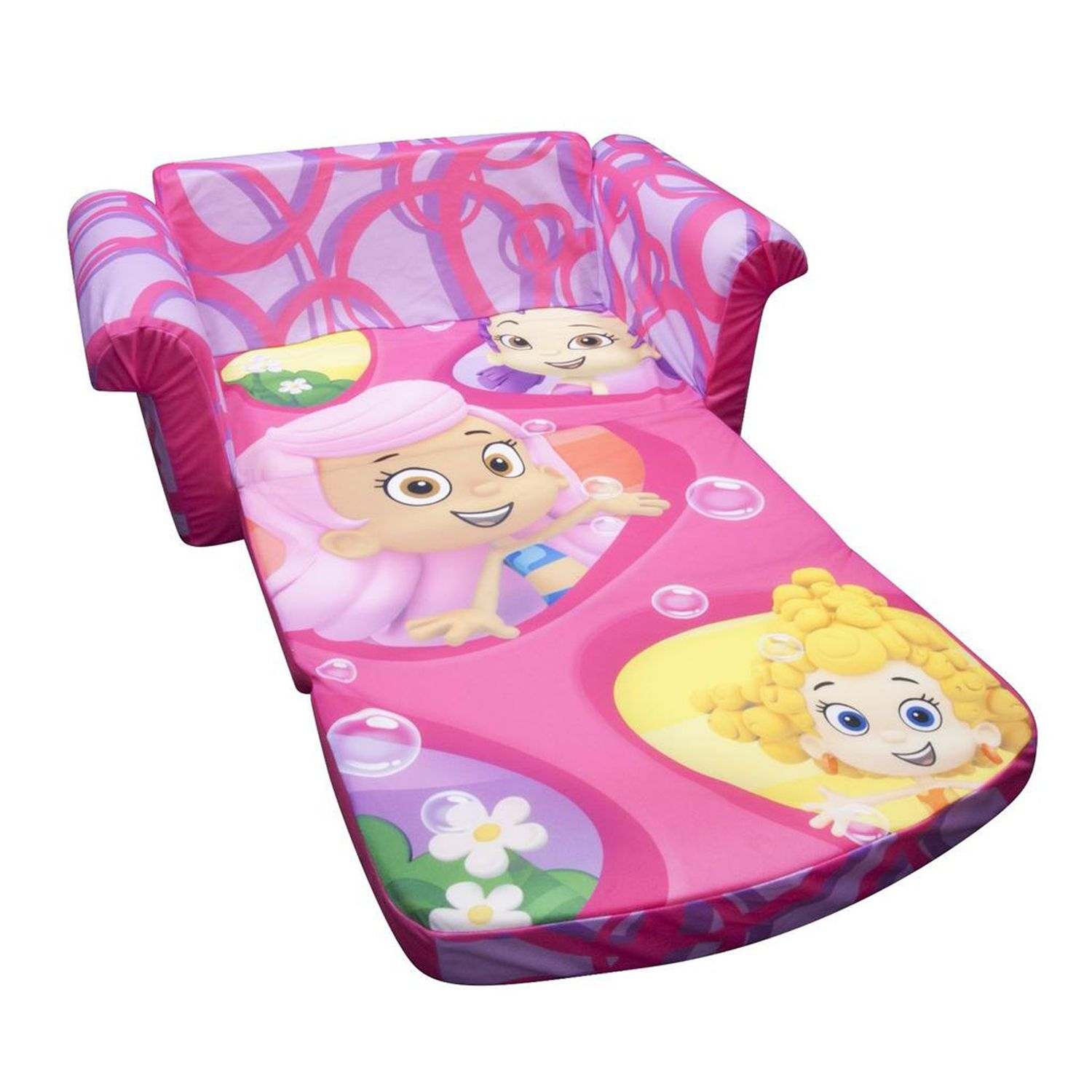 Kids Flip Sofa Kids Children Flip Out Sofa Foam Bed Blue