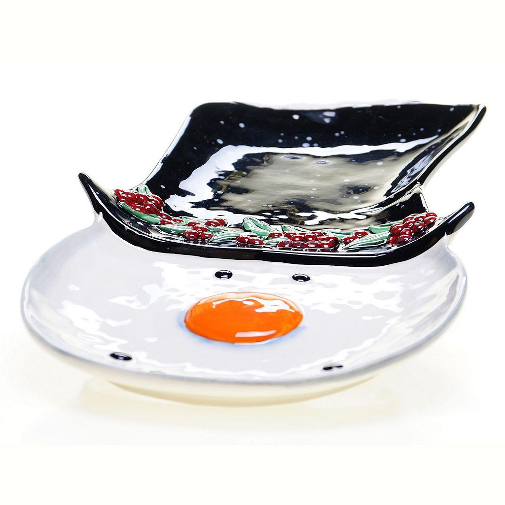 Certified International Top Hat Snowman 16.25