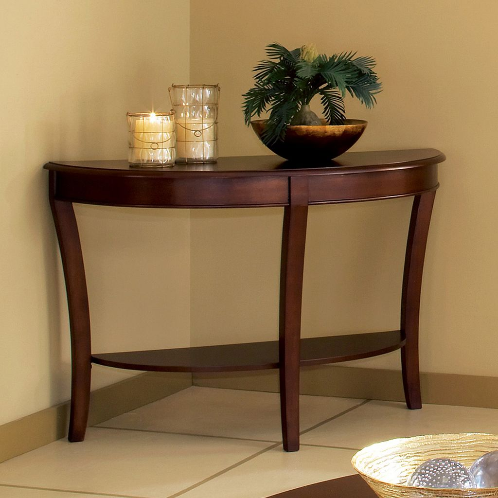 Troy Curved Sofa Table