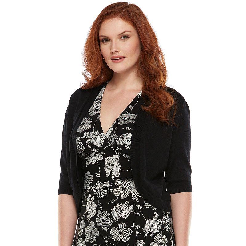 Chaps Solid Shrug - Women's Plus Size