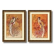 'Wealth & Prosperity'' 2 pc Framed Art Print Set