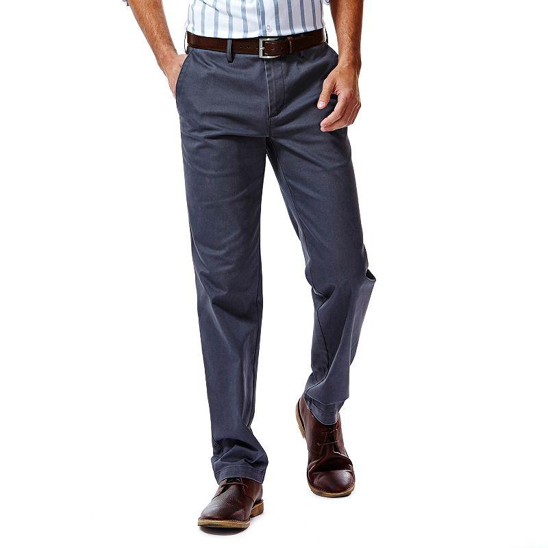 Haggar Performance Cotton Slacks: Slim-Fit Comfort Flex Waist Pants - Men